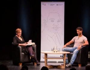 Hosting Carlos Acosta, Manchester Literature Festival 2013 Photo: Chris Bull for MLF